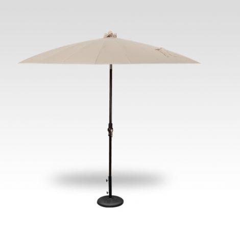 10' Shanghai Auto Tilt Umbrella - Vanilla