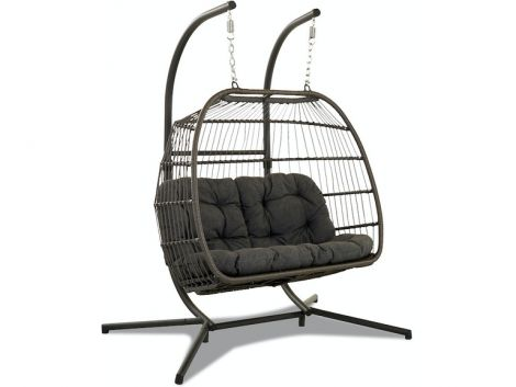 Woven Egg Double Chair Swing