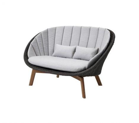 Peacock Woven Teak 2-Seat Sofa