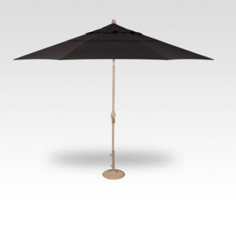 11' Auto Tilt Market Umbrella - Black