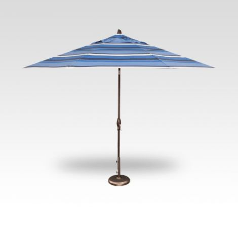 11' Auto Tilt Market Umbrella - Hampton Stripe