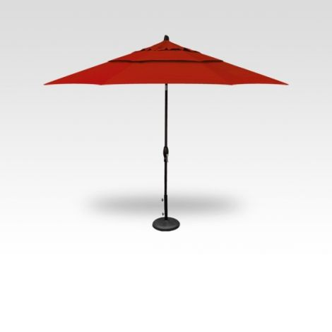 11' Auto Tilt Market Umbrella - Red