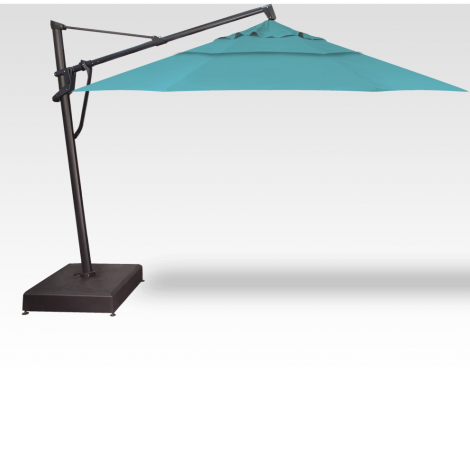 13' PLUS - Octagon Cantilevered Umbrella - Aqua