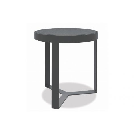 "18"" Honed Granite Round End Table"