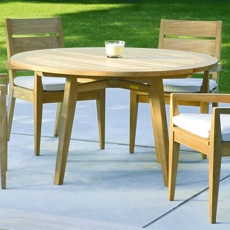 "Algarve 60"" Round Teak Dining Table"