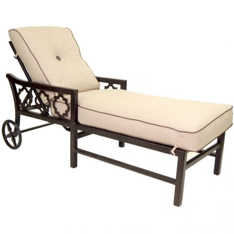 Belle Epoque Cushion Adjustable Chaise Lounge
