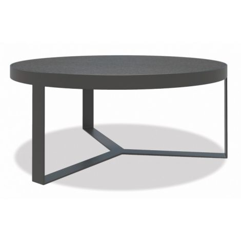 "38"" Honed Granite Round Coffee Table"