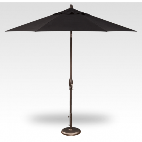 Button Tilt Market Umbrella - Black