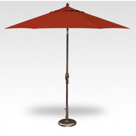 Button Tilt Market Umbrella - Red