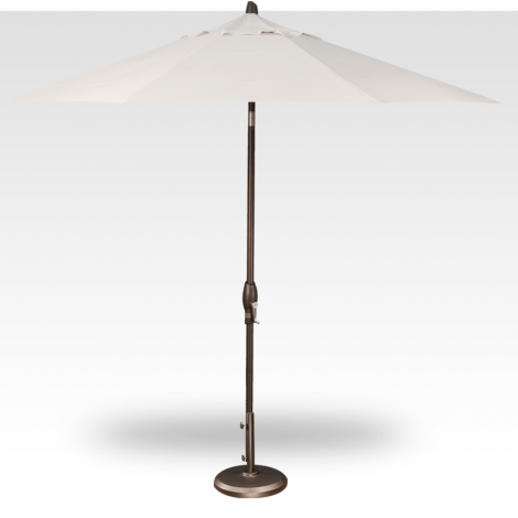 Button Tilt Market Umbrella - Vanilla