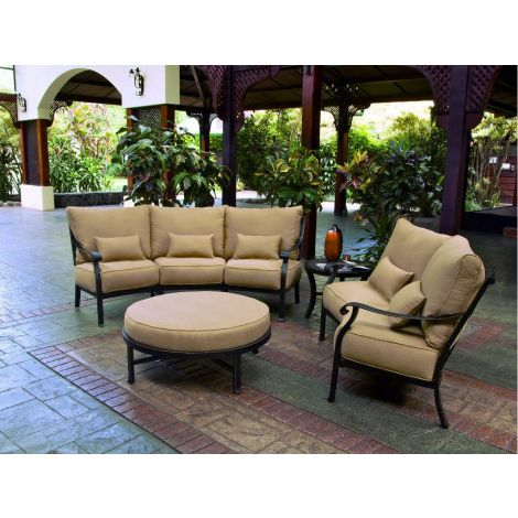Madrid 4-Piece Crescent Deep Seating Collection