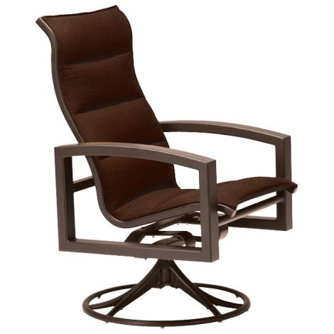 Lakeside Padded High Back Swivel Rocker