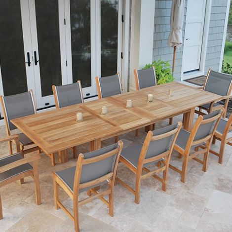 "Hyannis 118"" x 39"" Rect. Extension Dining Table w/Fold-Away Leaves"