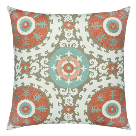 Suzani Oasis Throw Pillow