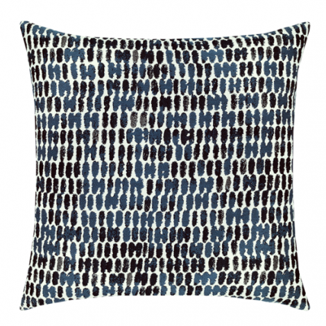 Thumbprint Indigo Throw Pillow