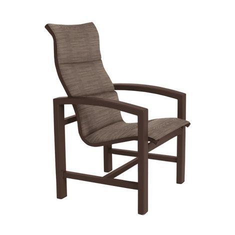 Lakeside Padded Sling High Back Dining Chair