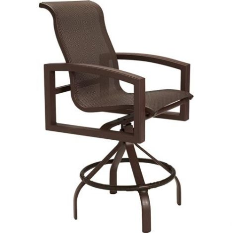 Lakeside Sling Swivel Bar Stool