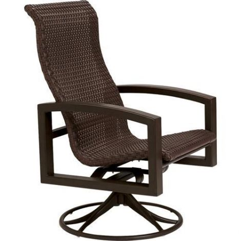 Lakeside Woven High Back Swivel Rocker