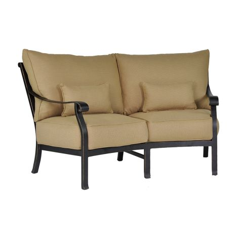 Madrid Cushion Crescent Loveseat