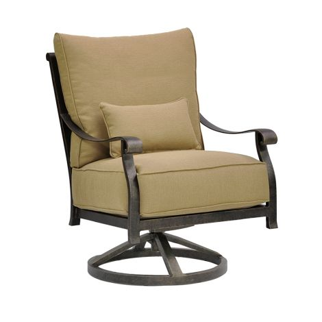 Madrid Cushion Swivel Action Lounge Chair