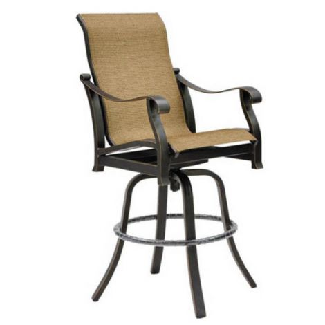Madrid High Back Sling Swivel Barstool