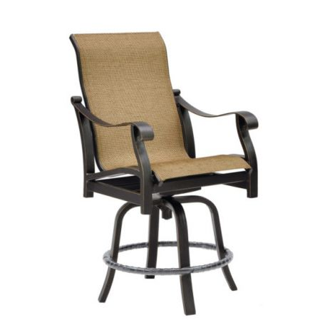 Madrid Sling Swivel Counter Stool