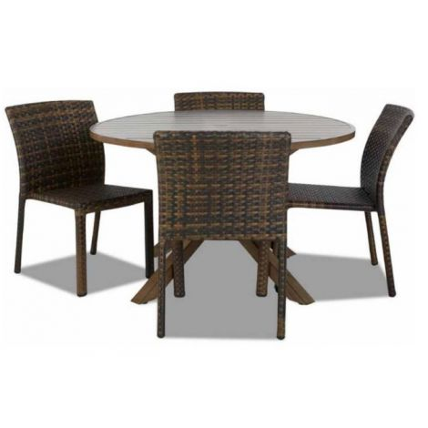 Mesa Wicker 5 PC Dining Set
