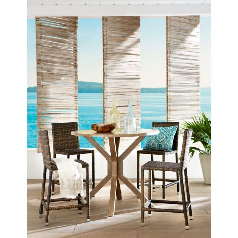 Mesa 5 Piece Wicker Bar Set