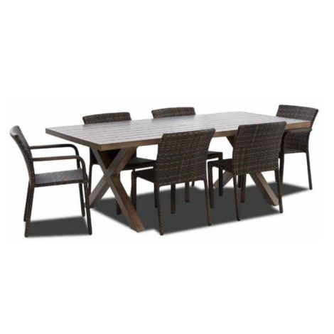 Mesa Wicker 7 PC Dining Set