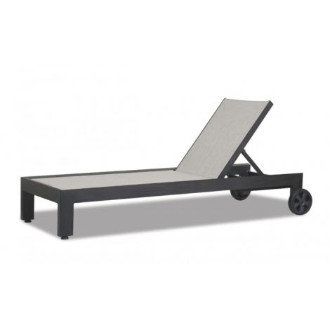 Redondo Sling Chaise Lounge w/ Wheels