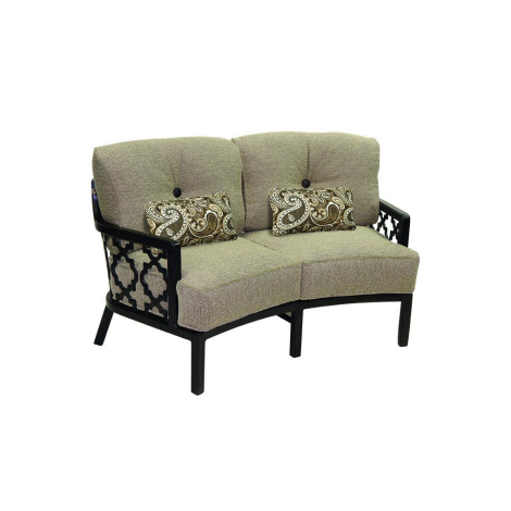 Belle Epoque Cushion Crescent Loveseat