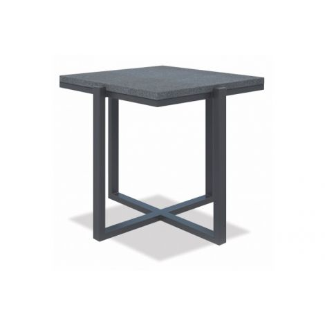 "22"" SQUARE END TABLE WITH HONED GRANITE"
