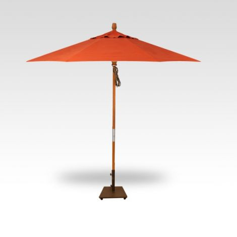 9' Wood Market Umbrella - Sunset