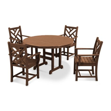 Chippendale 5-Piece Round Dining Set