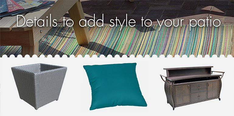 Details to add style to your patio